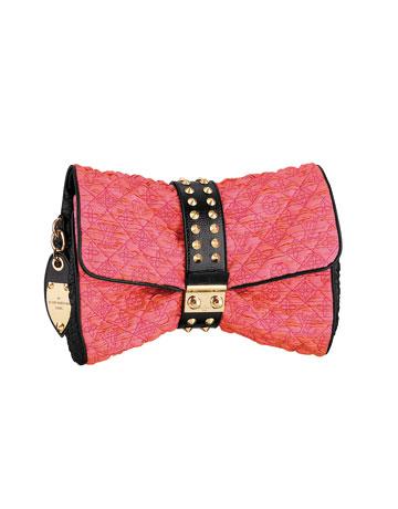 Plic din material textil cu aplicatii metalice Louis Vuitton