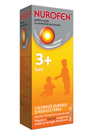 Nurofen pentru copii: calmeaza durerea si reduce febra