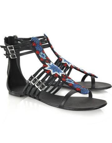 Sandale din piele Balmain