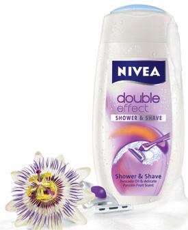 Noul NIVEA Double Effect Shower & Shave