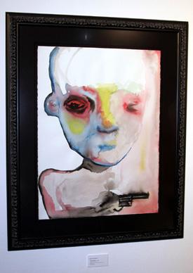 Marlyn Manson si-a expus tablourile la Viena
