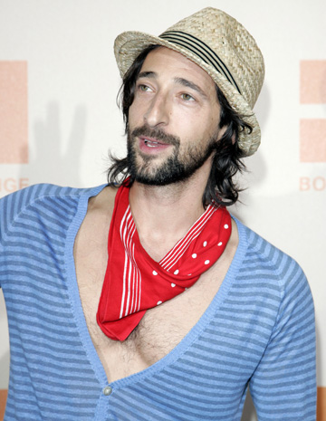 Adrien Brody, young at heart