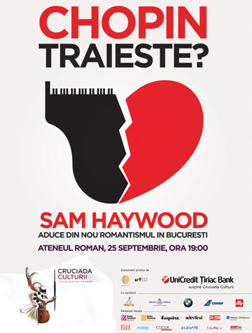 Chopin traieste! Recital Sam Haywood la Ateneul Roman