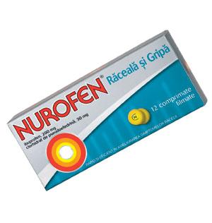Nurofen raceala si gripa