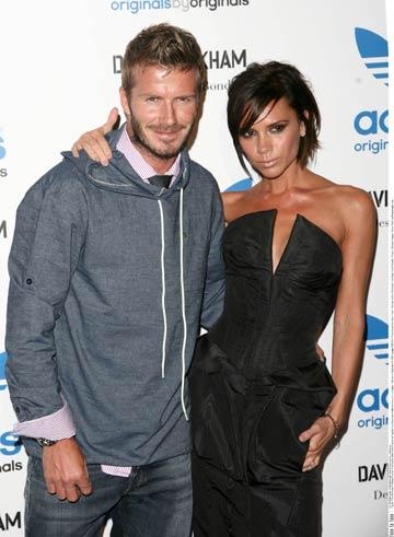 David Beckham foloseste produsele sotiei sale