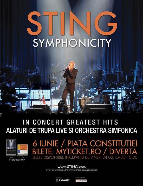 "Sting in concert ""greatest hits"", la Bucuresti!"