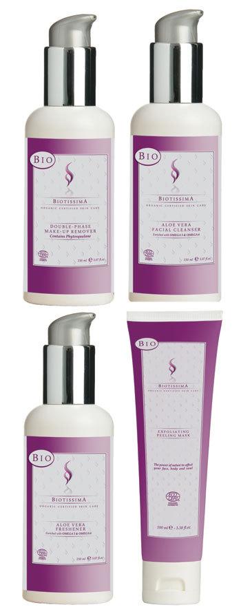 Produse cosmetice bio de curatare a tenului de la Biotissima