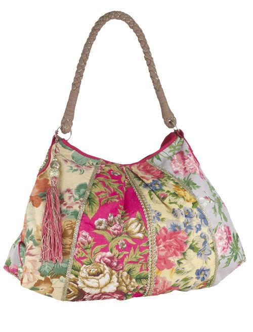 Geanta din material textil, cu imprimeu floral, Accessorize