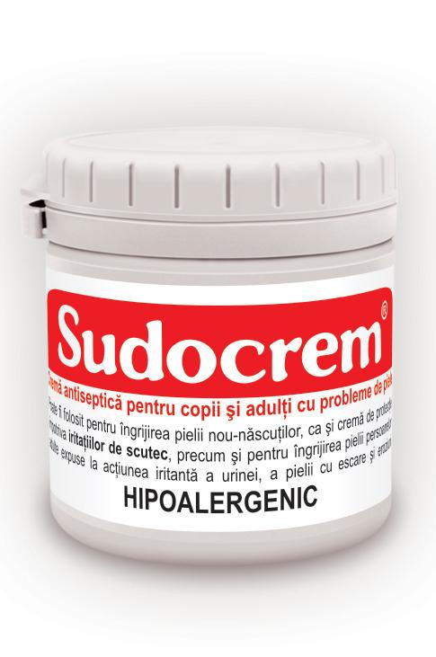 Sudocrem – Crema hipoalergenica, antiseptica, pentru copii si adulti cu probleme de piele