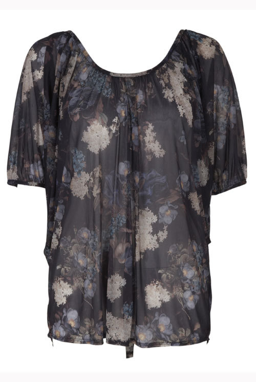 Bluza din voal, cu imprimeu floral, Next