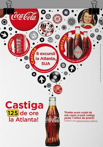 Castiga cu Coca Cola 125 ore la Atlanta!
