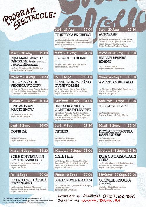 Incepe UNDERCLOUD – Festival de Teatru Independent de Orice!