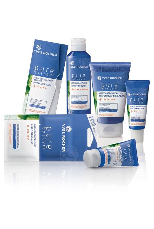Gama Pure System de la Yves Rocher combate acneea