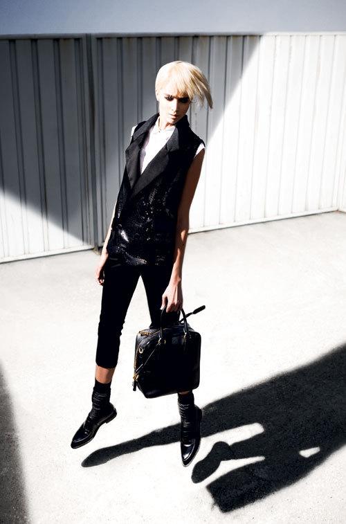 Editorial fashion: Look masculin curajos
