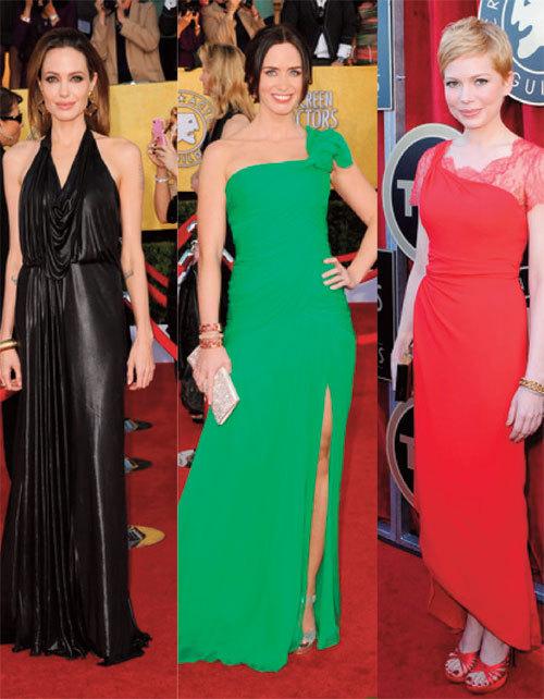 Ce au purtat vedetele la Screen Actors Guild Awards 2012