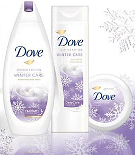 Prima editie limitata Dove Winter Care
