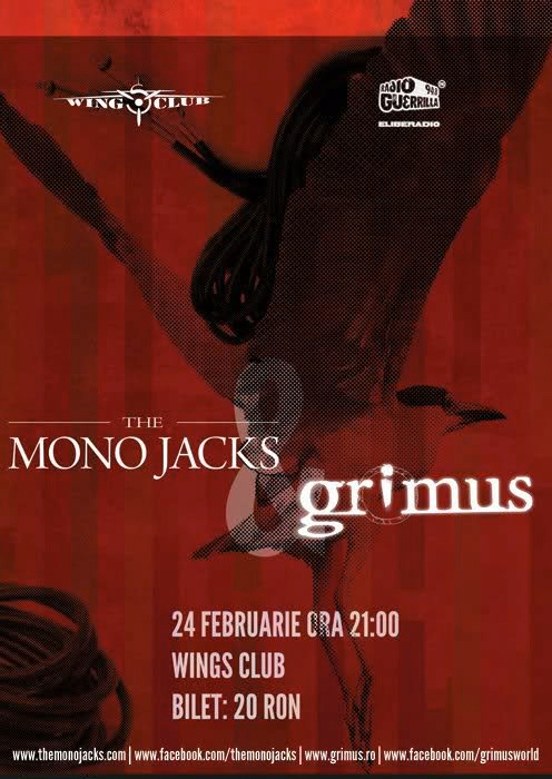 Concert The Mono Jacks si Grimus, in Wings Club din Bucuresti