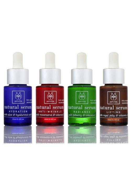 Apivita, Natural Serum, picaturi de frumusete pentru rezultate imediate