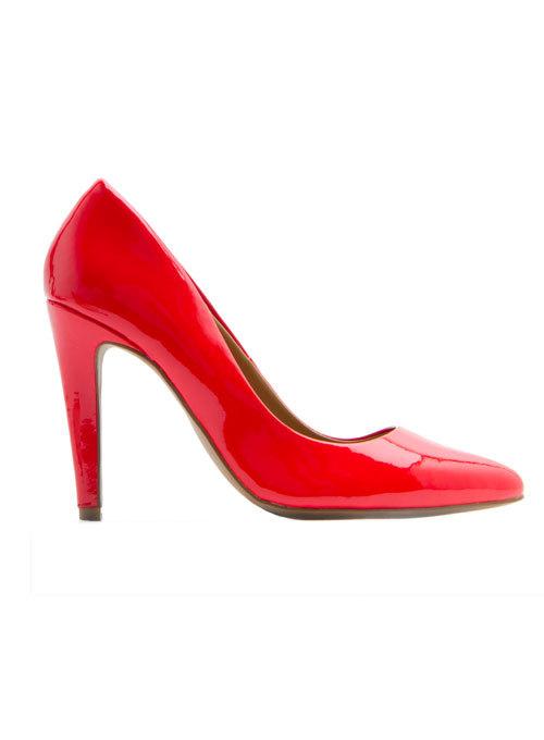 Pantofi din piele lacuita, Mango