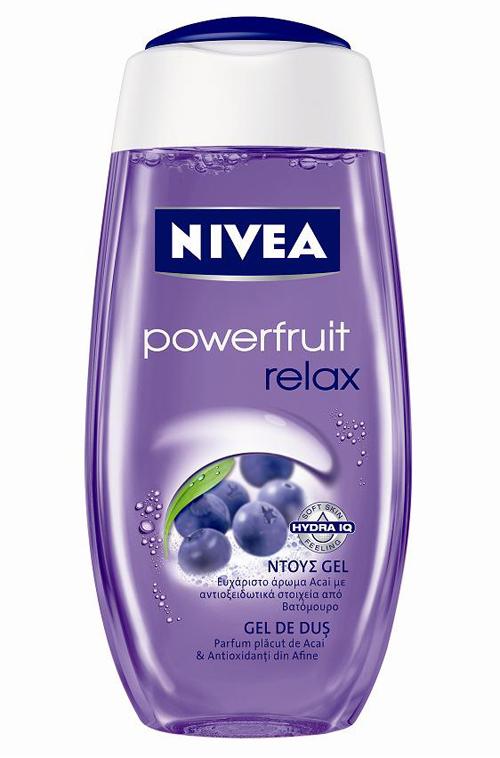 Noul gel de dus NIVEA Powerfruit Relax