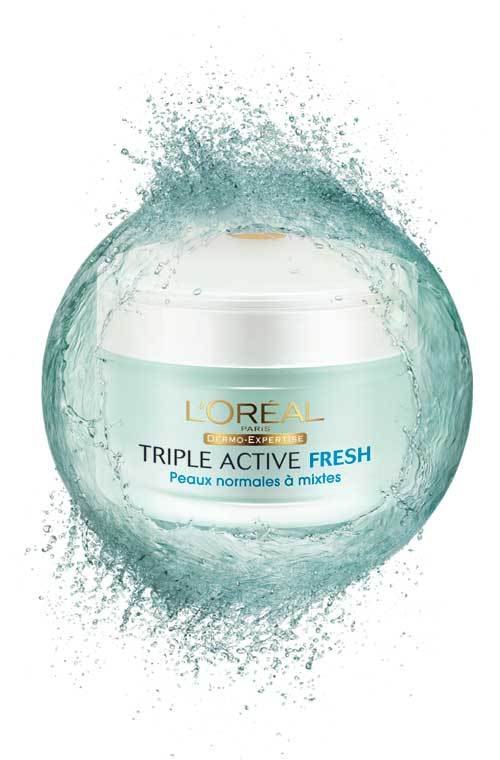 Crema hidratanta Triple Active Fresh, L'Oreal Paris