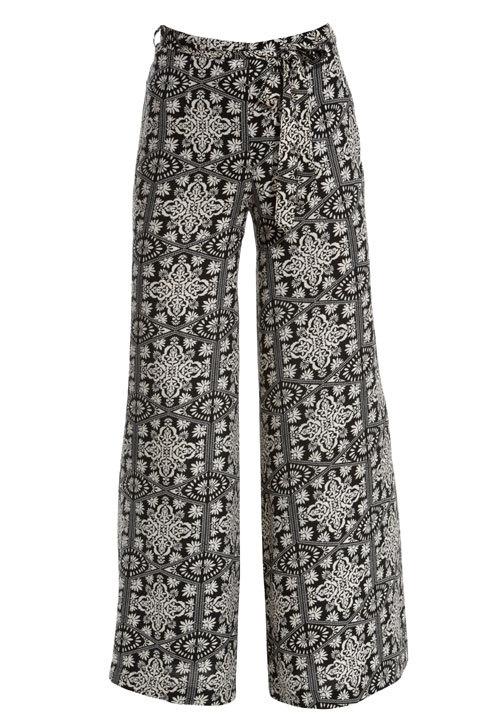 Pantaloni evazati, cu imprimeu, New Look