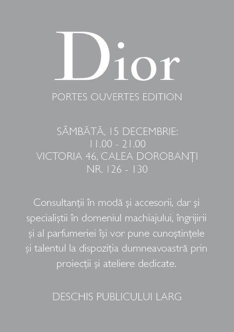 Dior te invita la un eveniment special