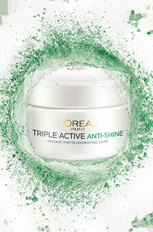 L'Oreal Paris lanseaza crema Triple Active Anti-Shine
