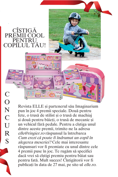 Concurs Elle Kids – Castiga premii cool pentru copilul tau!