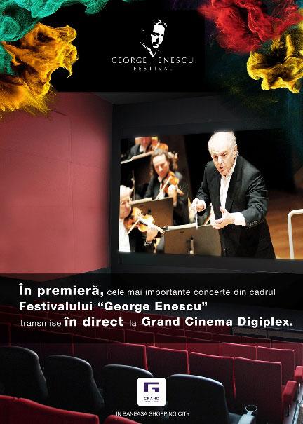 Concertele de la Festivalul George Enescu, transmise de Grand Cinema Digiplex