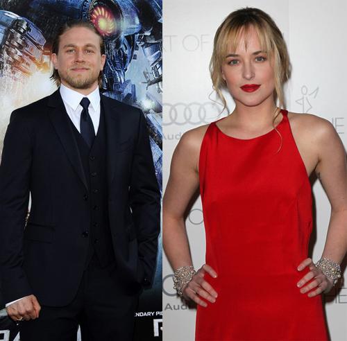 "Charlie Hunnam si Dakota Johnson, protagonisti in filmul ""50 shades of Grey"""