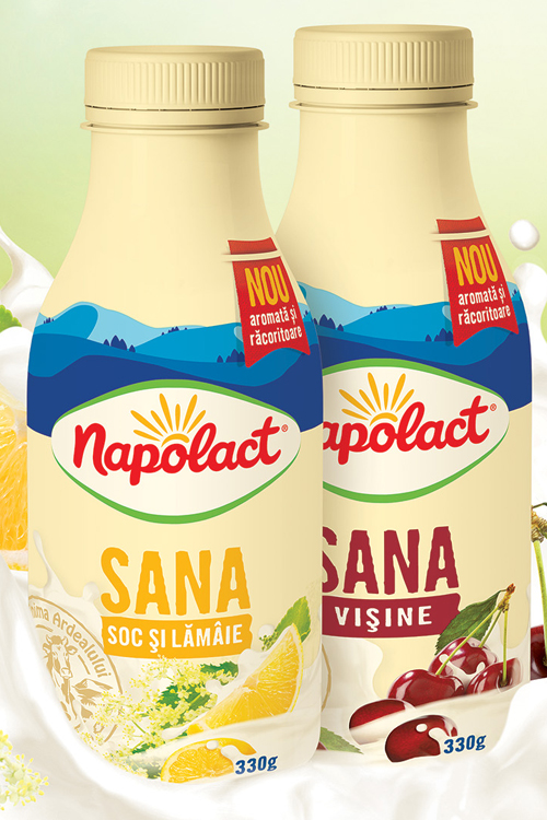 Noua Sana cu fructe de la Napolact