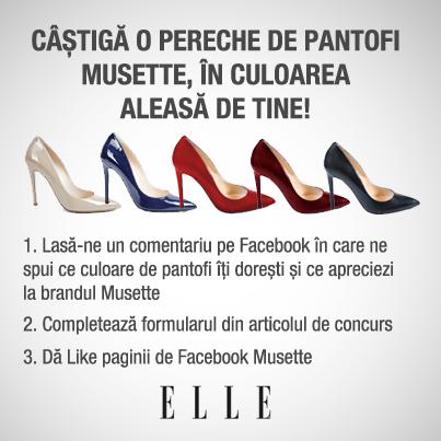 Castiga o pereche de pantofi Musette, in culoarea aleasa de tine!