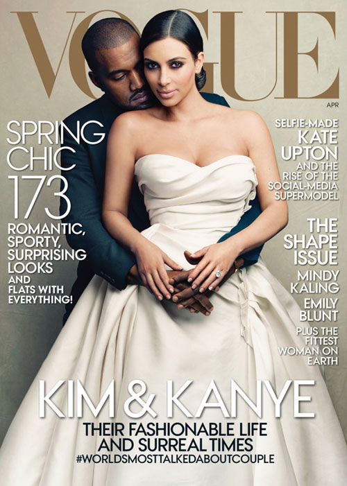 Care-i treaba cu Kim Kardashian si Kanye West pe coperta Vogue?