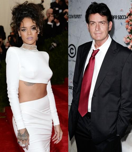 Rihanna si Charlie Sheen, razboi pe Twitter