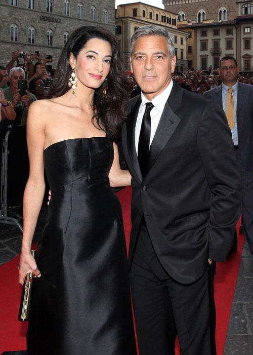 George Clooney si logodnica sa Amal Alamuddin, prima aparitie in public!