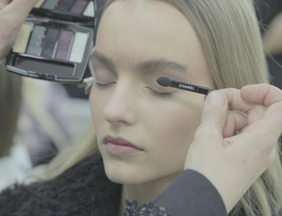 Machiaj fantezist in show-ul Chanel Haute Couture