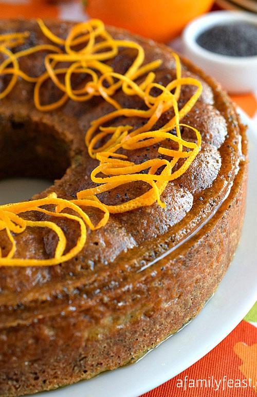 Tort de mac cu glazura de portocale