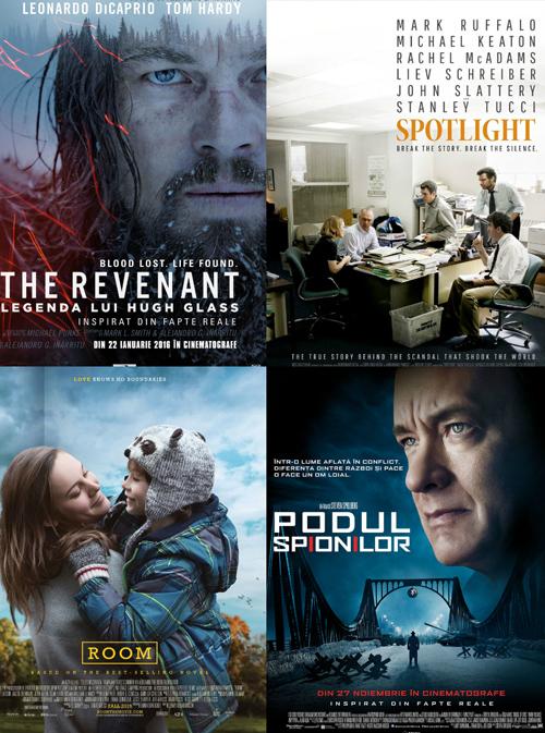 Nominalizarile la Premiile Oscar 2016 – lista completa