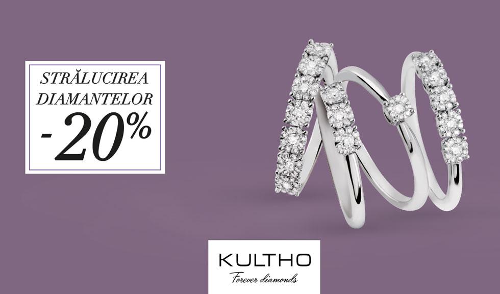 (P) Descopera esenta feminitatii in stralucirea diamantelor – 20% discount la bijuteriile din aur cu diamante
