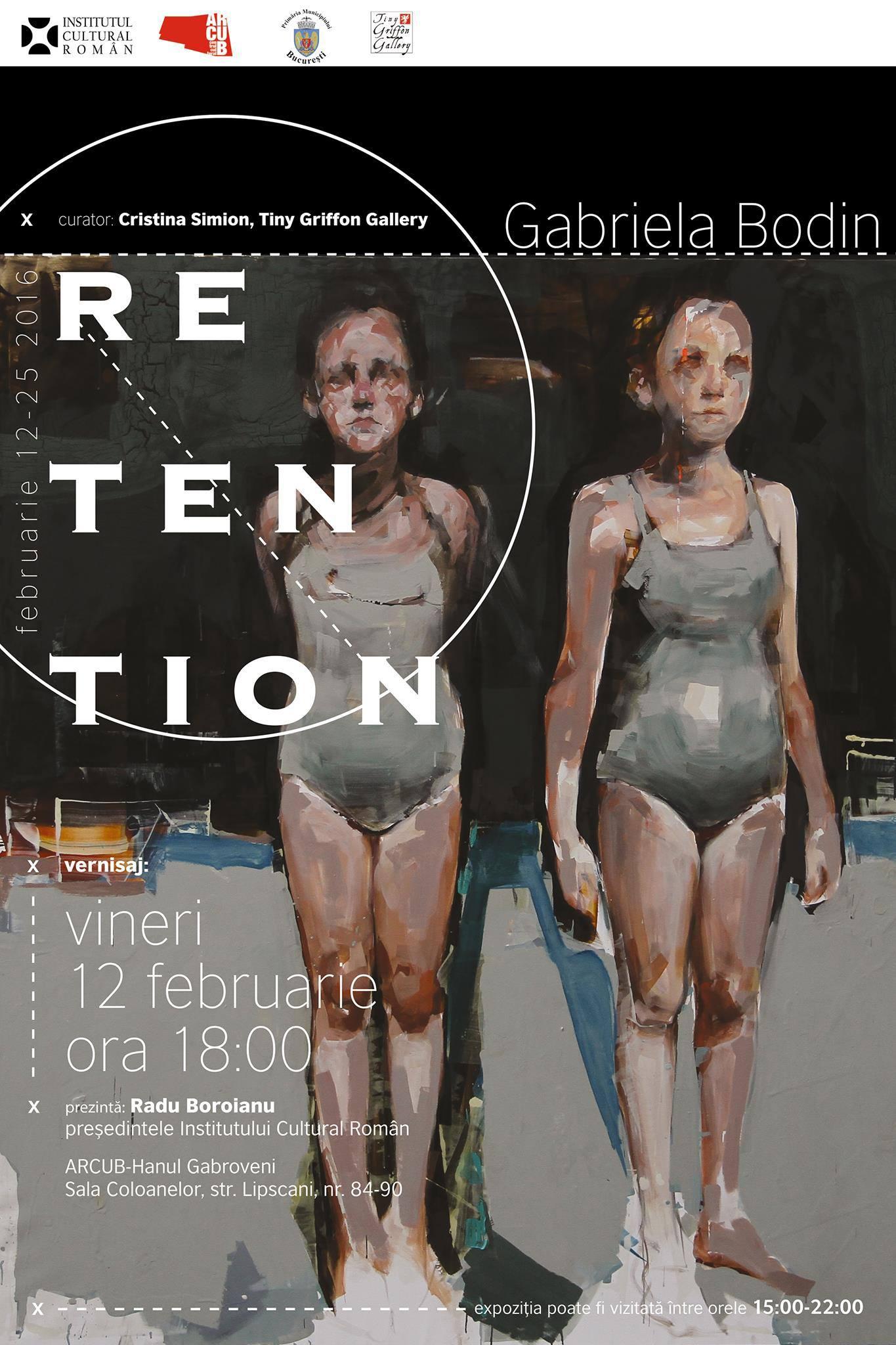 Retention – o expozitie Gabriela Bodin la ArCUB Gabroveni