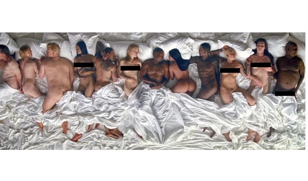 Taylor Swift si Kim Kardashian dezbracate in pat langa Kanye West in noul videoclip al artistului