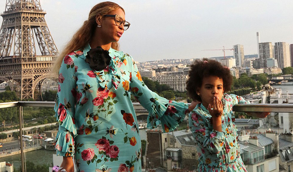 Beyonce si fiica ei, Blue Ivy, in tinute asortate Gucci
