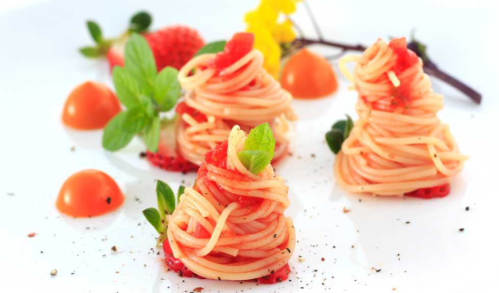 Spaghete cu capsuni