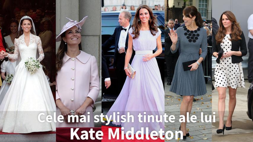 Cele mai stylish tinute ale lui Kate Middleton (VIDEO)