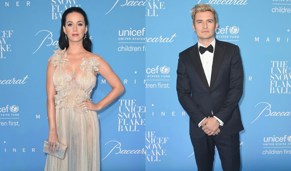 Katy Perry si Orlando Bloom, impreuna la UNICEF Snowflake Ball