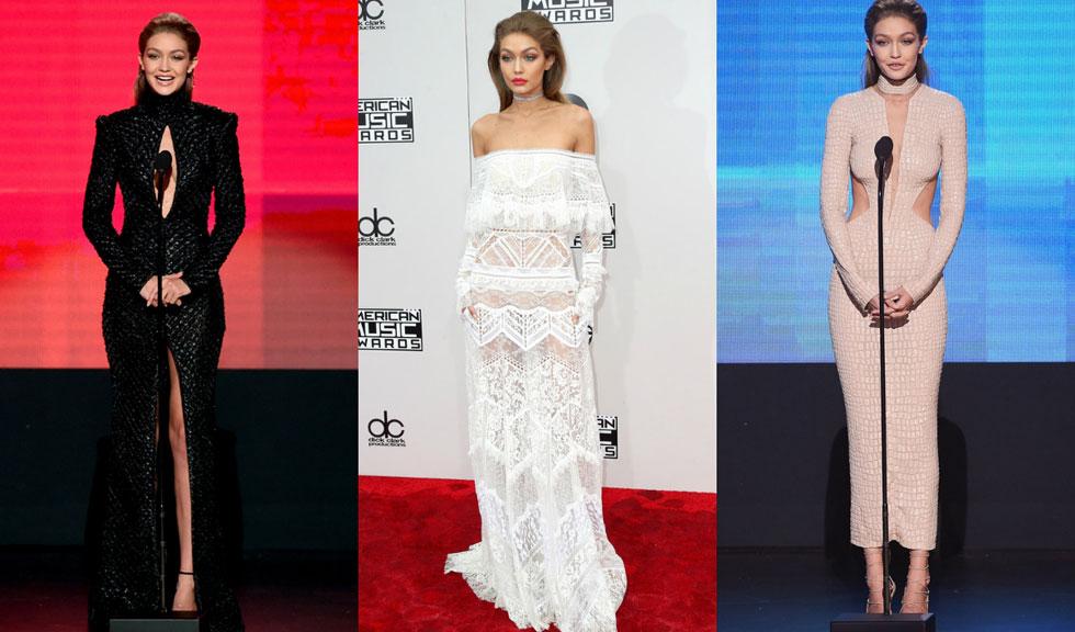 Tinutele lui Gigi Hadid la decernarea American Music Awards 2016