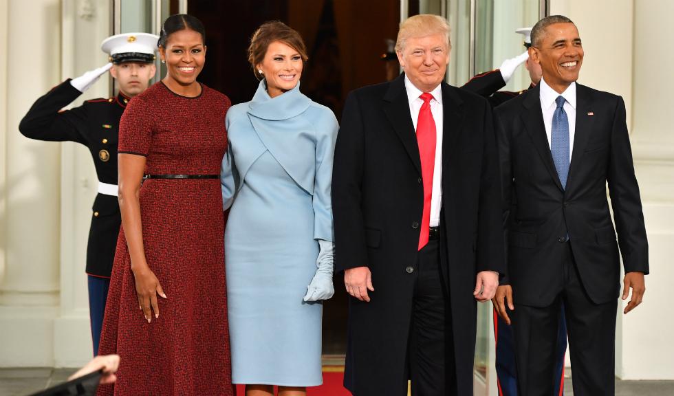 Familia Obama intampina familia Trump la Casa Alba, inaintea ceremoniei de inaugurare