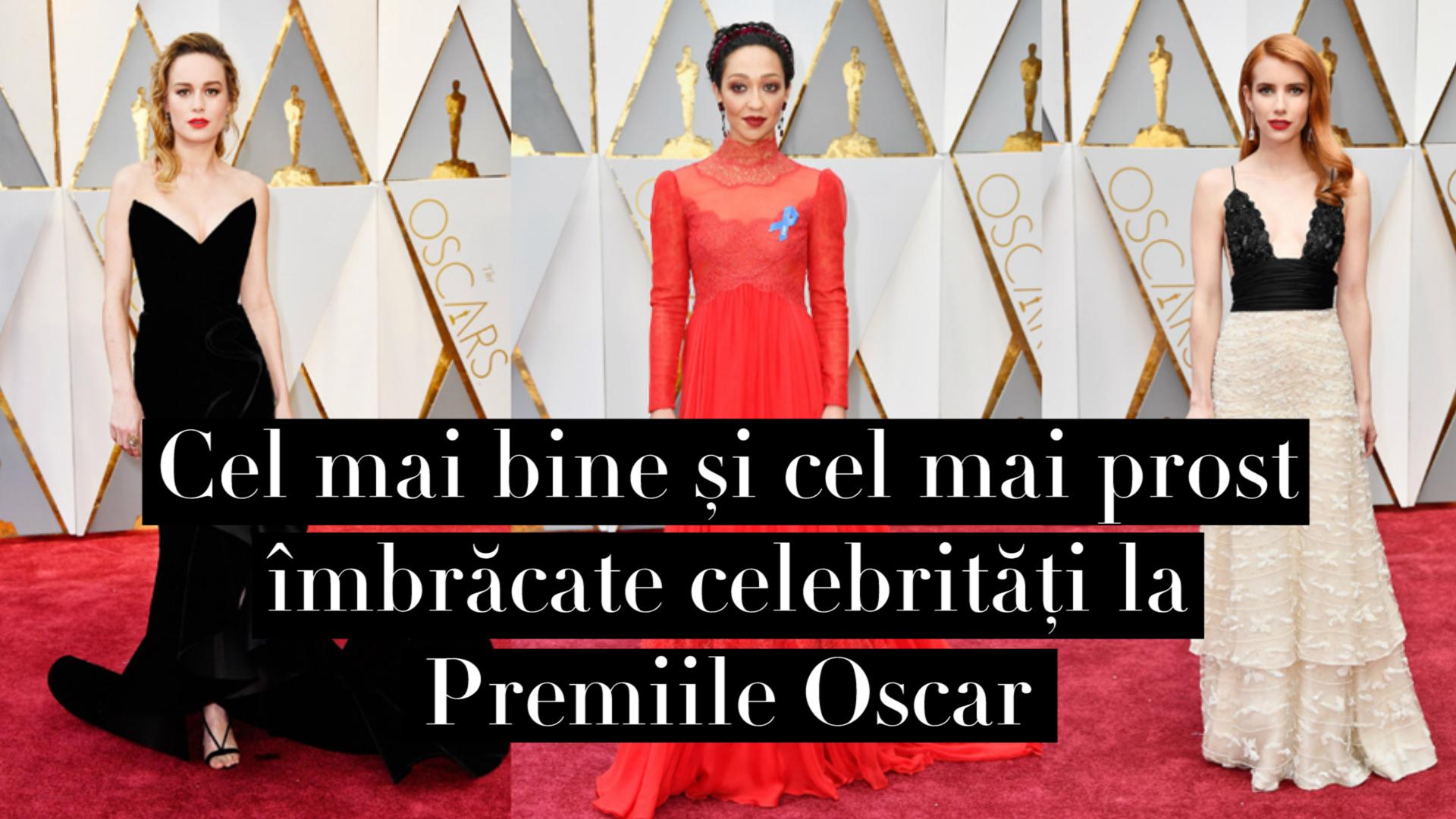 Cel mai bine si cel mai prost imbracate celebritati la Premiile Oscar (VIDEO)