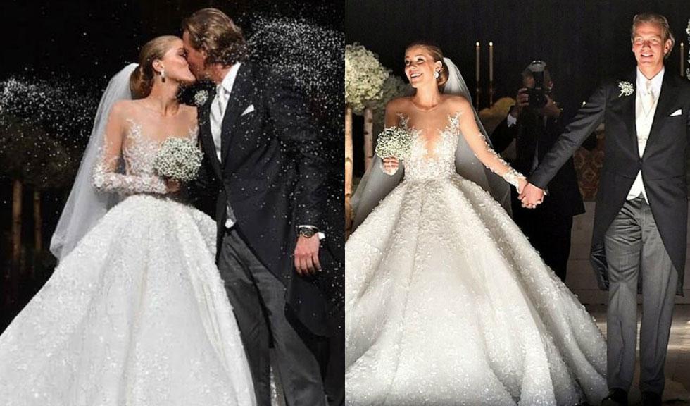Cea mai spectaculoasa nunta a anului! Mireasa a purtat o rochie de 700.000. de lire sterline